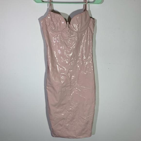 Dresses & Skirts - Sexy pink latex dress size small